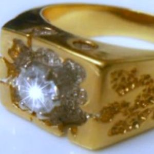 Other - .75ct14K Gold Plated Round CZ Solitaire Mens Ring